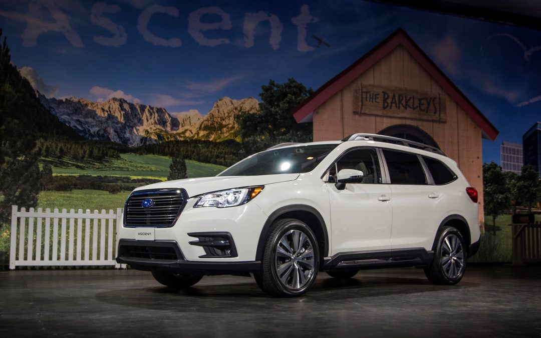 Subaru is stepping out and up with the new Ascent three-row SUV!