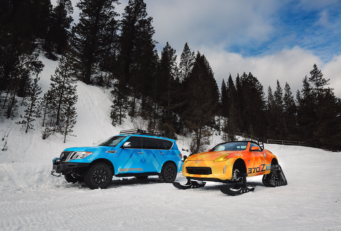 Nissan brings 370Z winter sports and Armada Snow Patrol to Chicago Auto Show