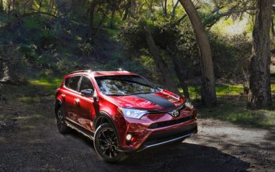 'Messing' in the dirt naturally – the 2018 Toyota RAV4 AWD Adventure.