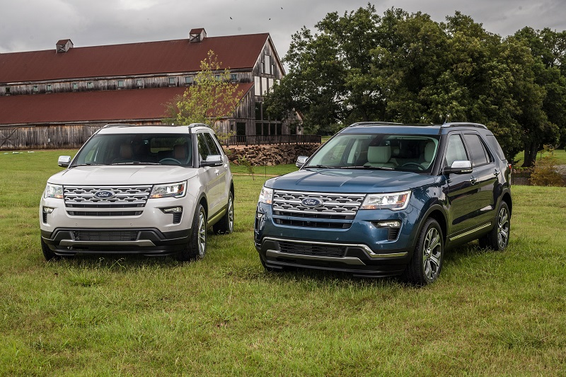 2019 Explorer Desert Copper Edition with 2019 Explorer Limited Luxury Edition