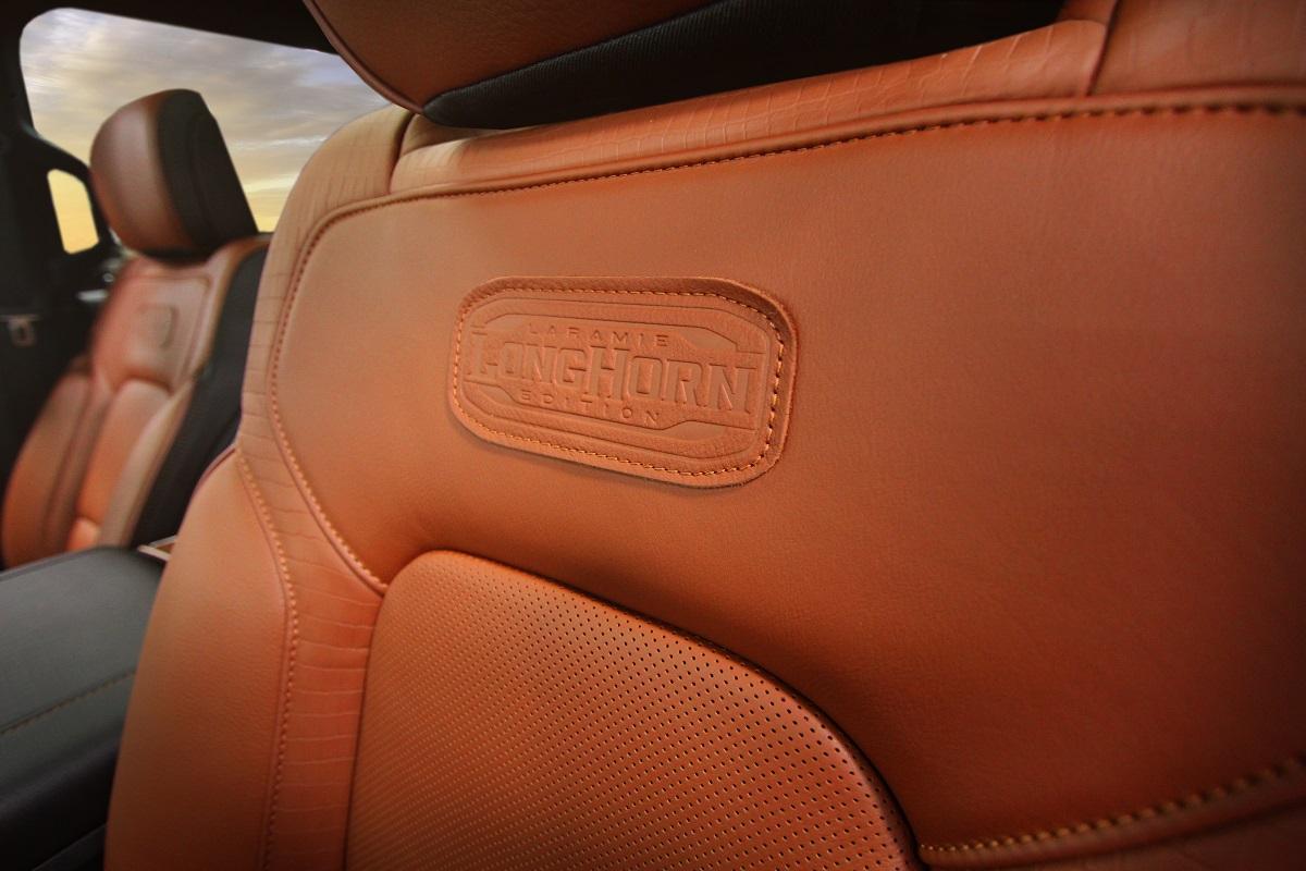 2019 Ram 1500 Longhorn Interior Seat Embossed Patch Detail 1