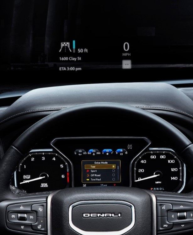 2019 GMC Sierra Denali Head-up display | In Wheel Time