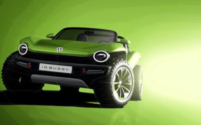 VW reveals ID. Buggy electric dune buggy concept at Geneva Auto Show
