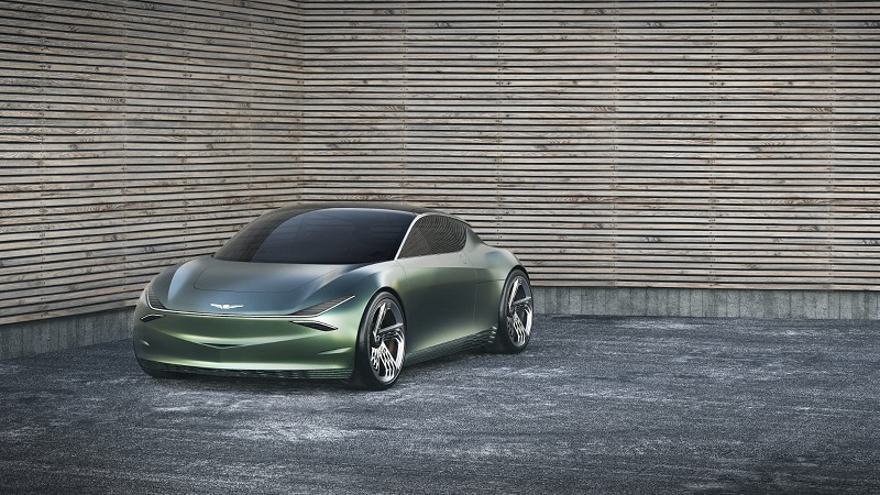 The 'Mint'- new electric luxury concept from Geneisis shows at the New York Auto Show