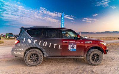 TAWA members pilot Infiniti QX80 to Top-10 rookie finish in Rebelle Rally