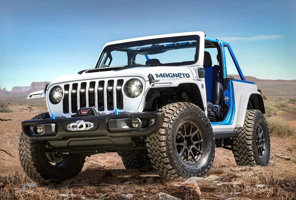 Electrified Wrangler Magneto concept leads Jeep entries at Moab for 2021