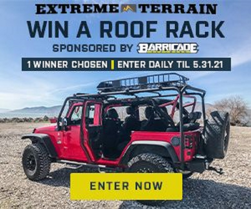 Enter ExtremeTerrain's Roof Rack Sweeps | $500 Value